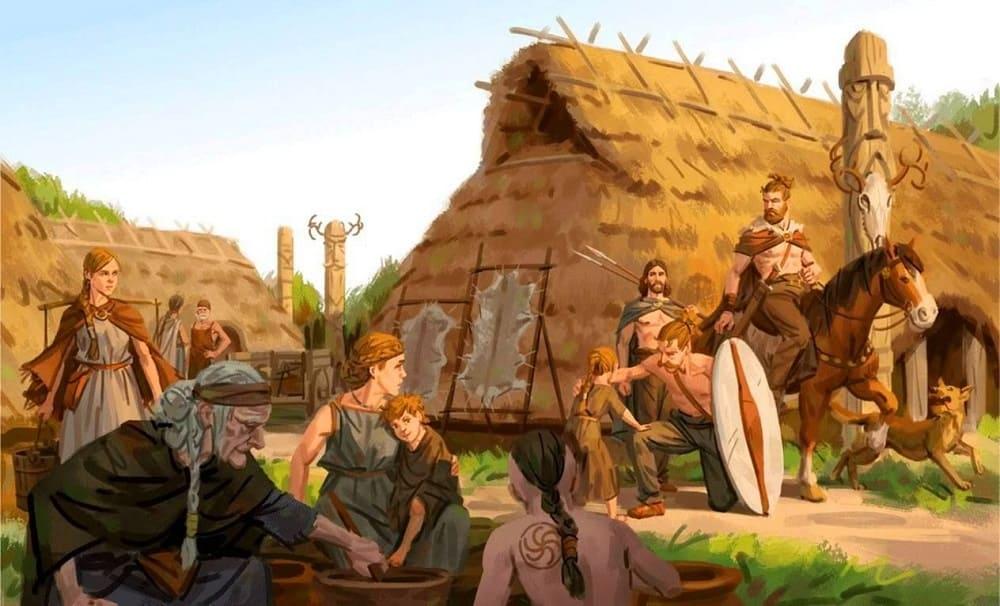 Германцы (немцы) жили оседло в деревнях / © Mats Minnhagen / Minnhagen.com