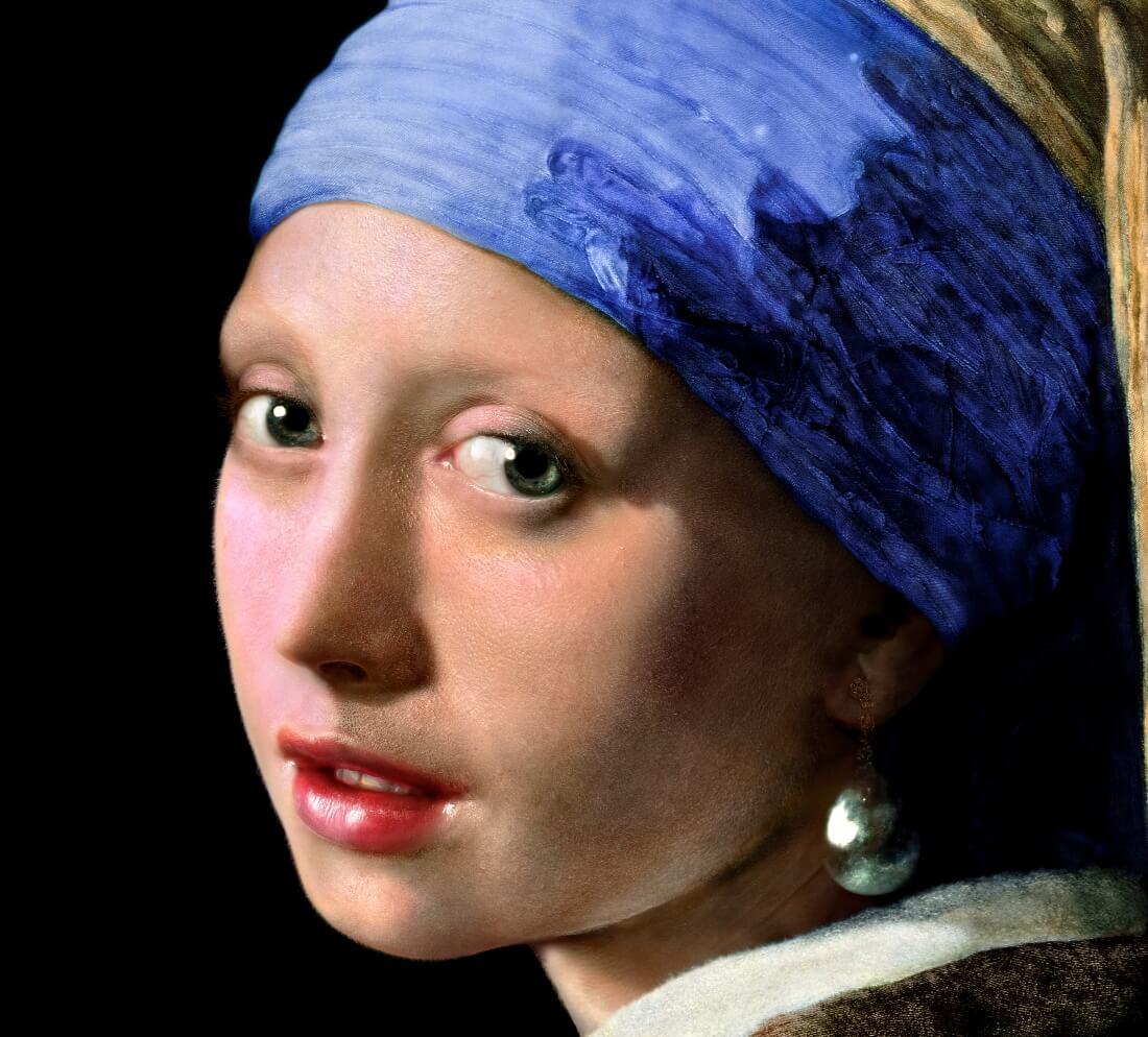 Главная героиня картины, фрагмент картины после реконструкции Koorosh Orooj / vphotobrush.com
