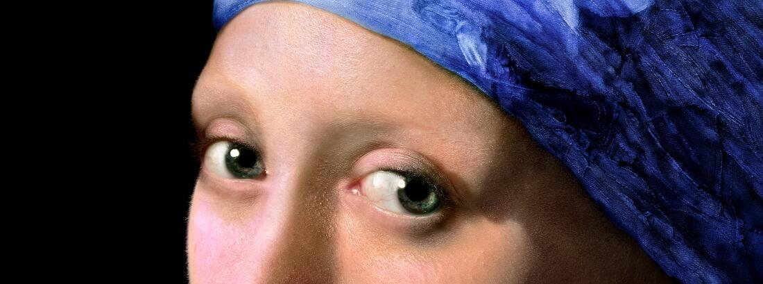 Глаза героини картины после реконструкции Koorosh Orooj / vphotobrush.com