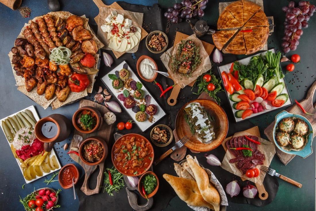 Грузинская еда (ресторан Бородашвили в Краснодаре)