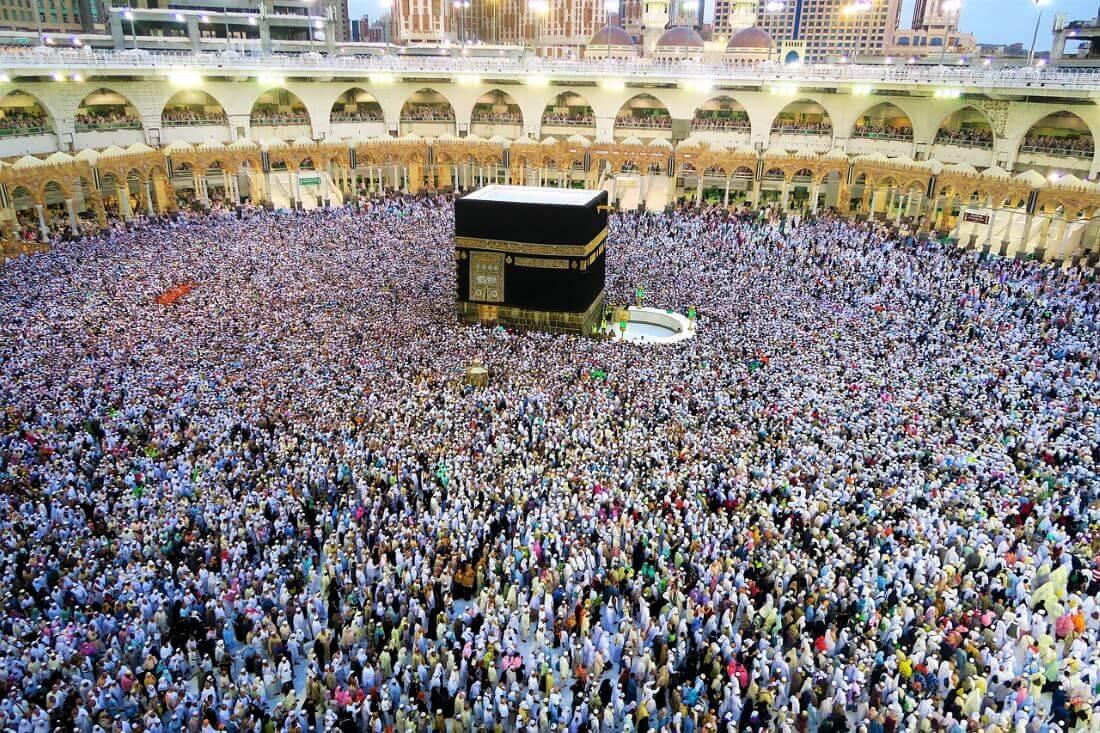 Мечеть Кааба в Мекке во время Рамадана