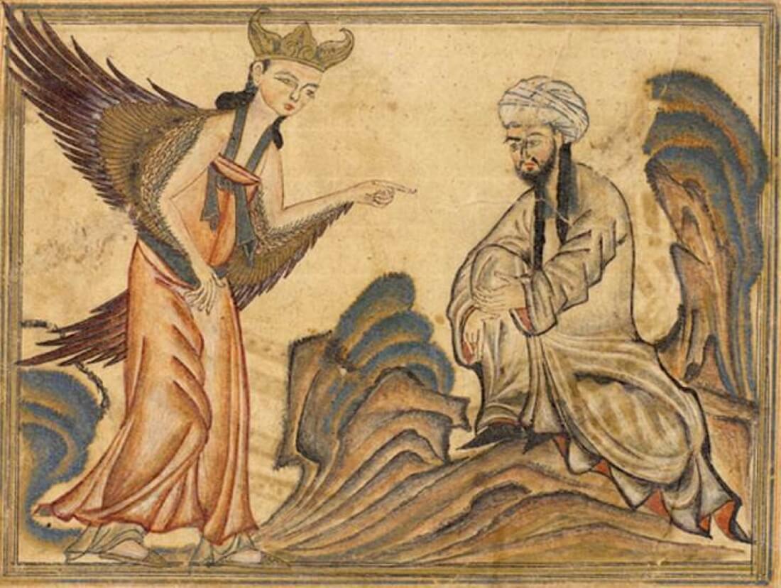 Мухаммед получил свое первое откровение от ангела Гавриила.