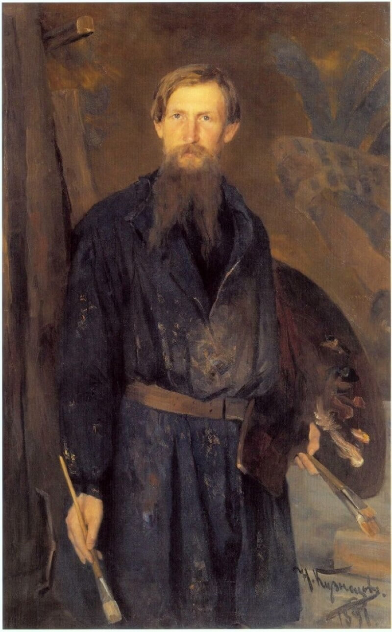 Николай Дмитриевич Кузнецов «Портрет В. М. Васнецова», 1891 год