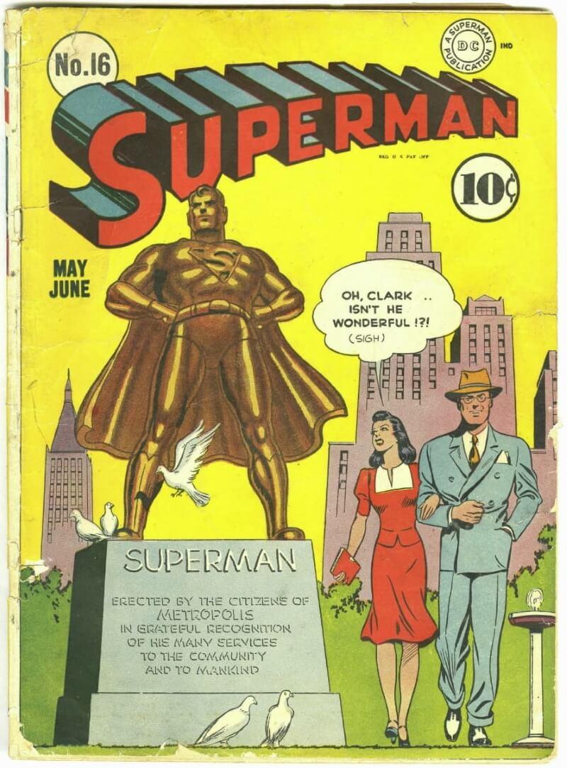 Обложка комикса «Супермен №16»