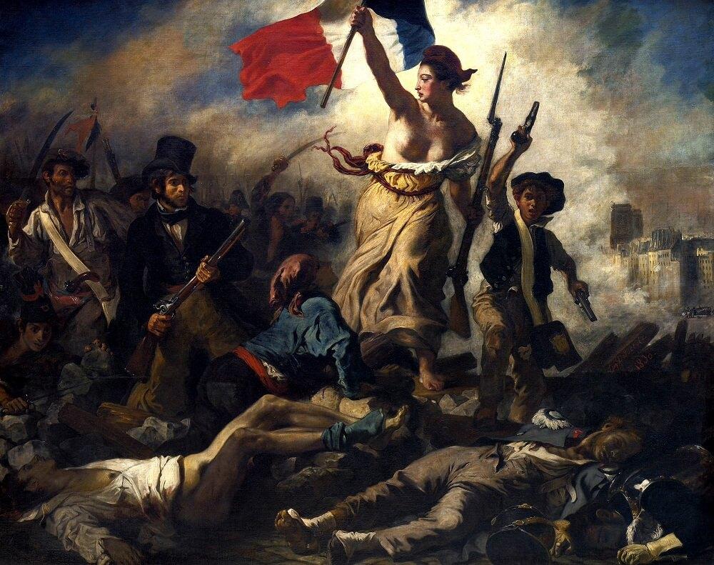 Картина Эжен Делакруа «Свобода ведущая народ»