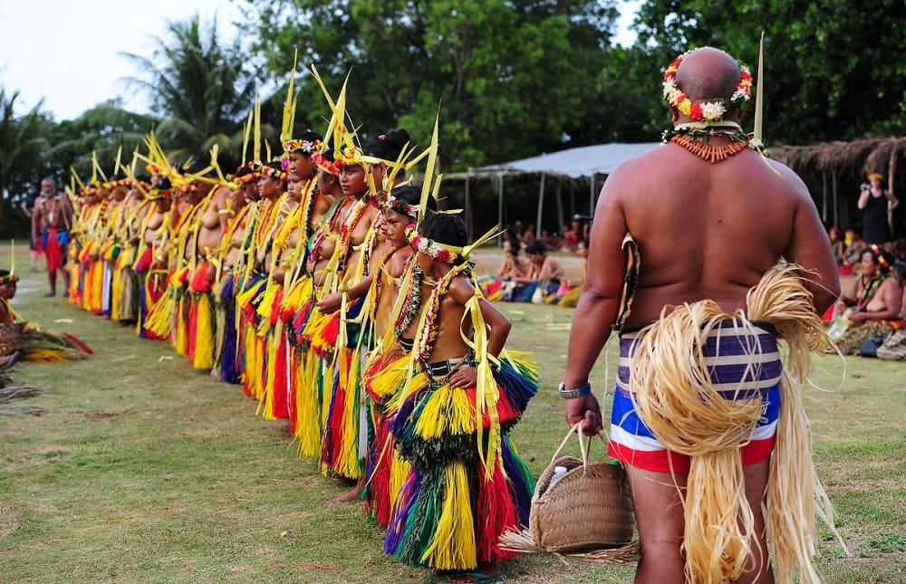 Традиционные ритуалы Микронезии очень красочны