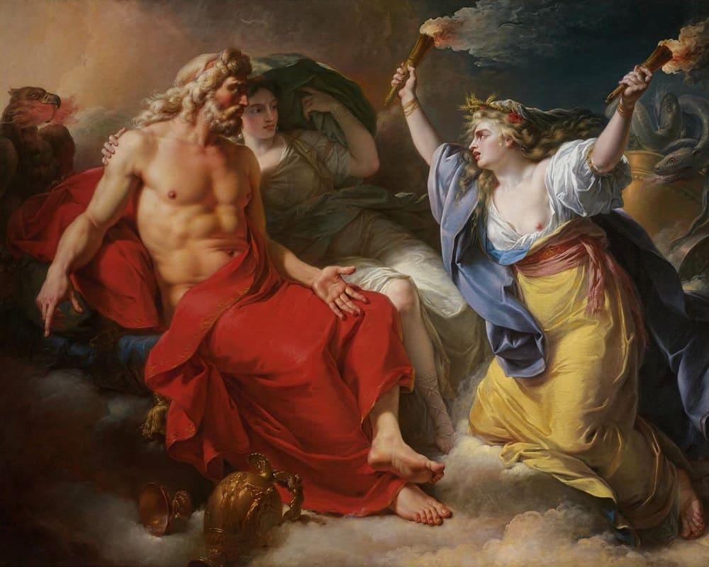Антуан-Франсуа Калле «Церера Просит Молнию Юпитера после похищения Ее дочери Прозерпины» , 1777 год Местонахождение: Музей изящных искусств, Бостон, США