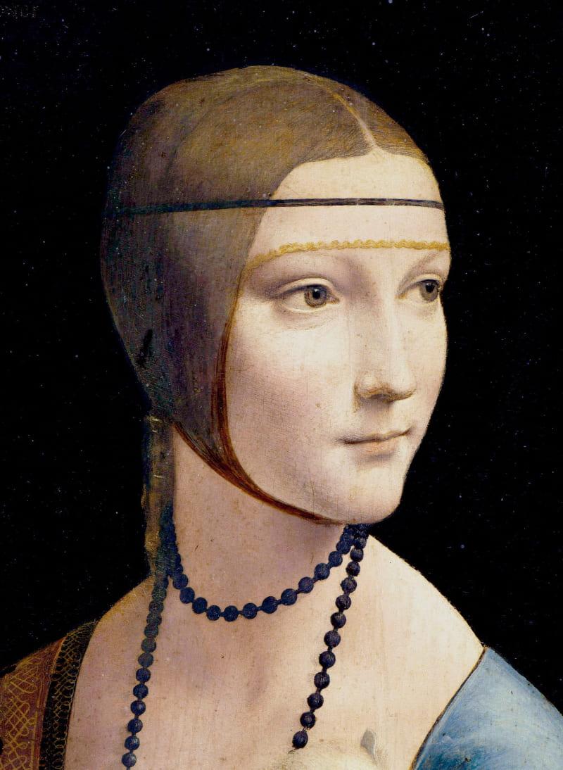 Фрагмент картины Леонардо да Винчи «Дама с горностаем»