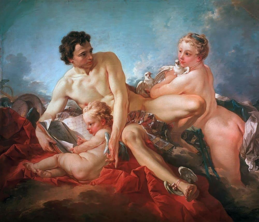 Франсуа Буше «Обучение Купидона», 1742 год Местонахождение: Замок Шарлоттенбург, Берлин, Германия
