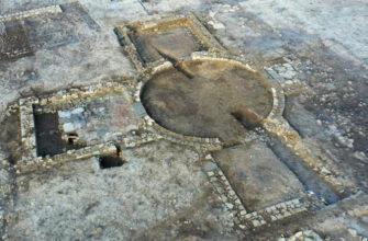 Фундамент большого комплекса римских вилл