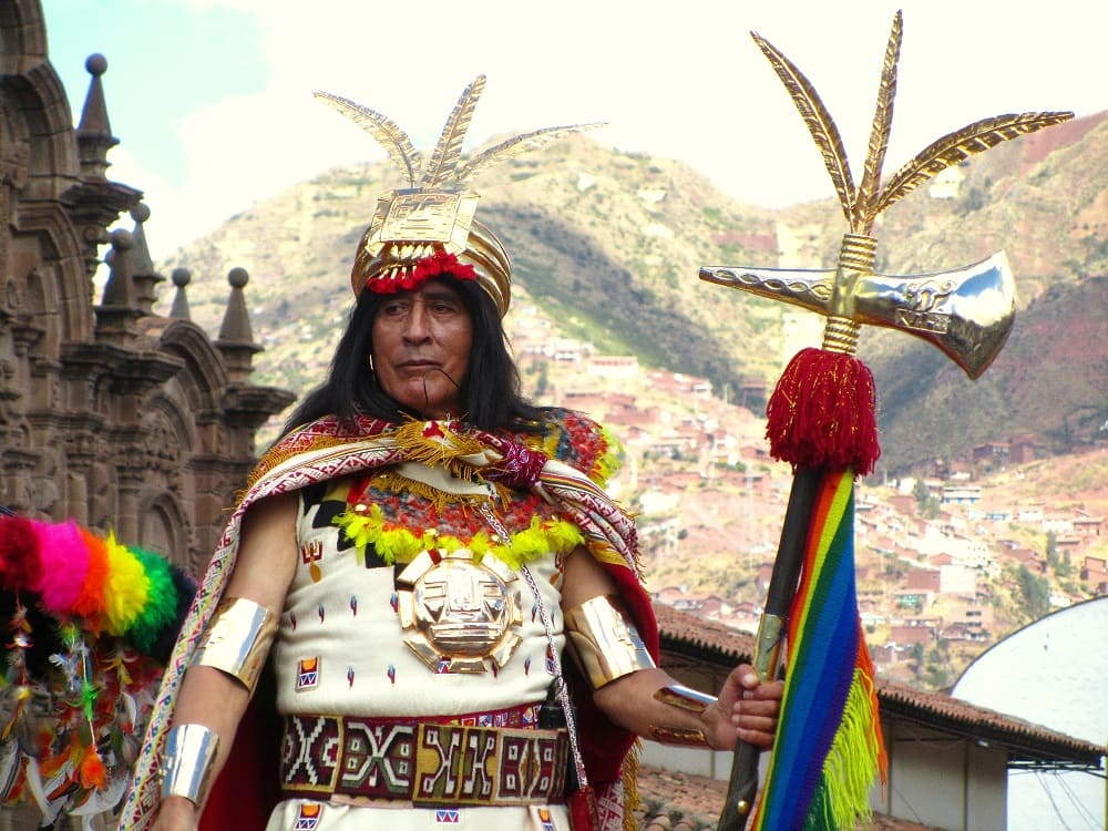 Император инков на фестивале Инти Райми в Перу