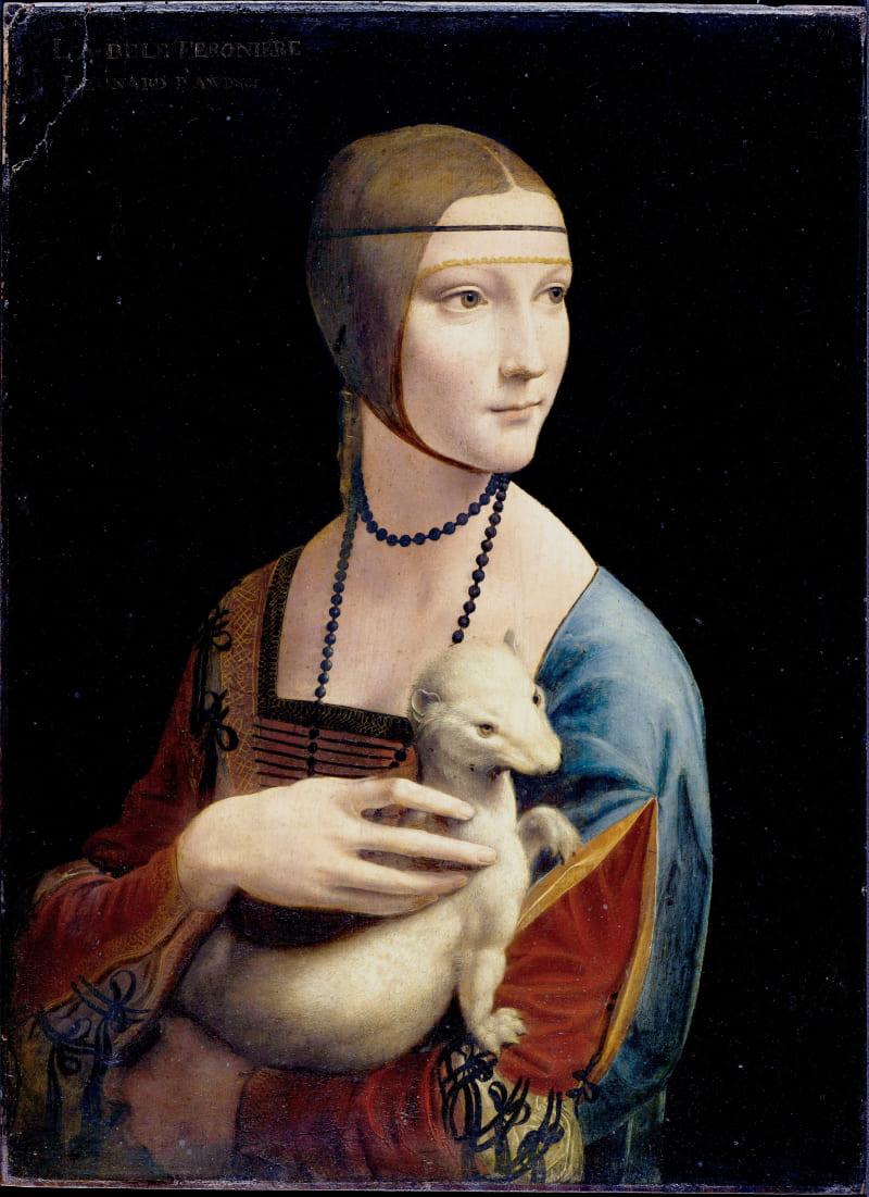 Леонардо да Винчи «Дама с горностаем», между 1483 и 1490 годами