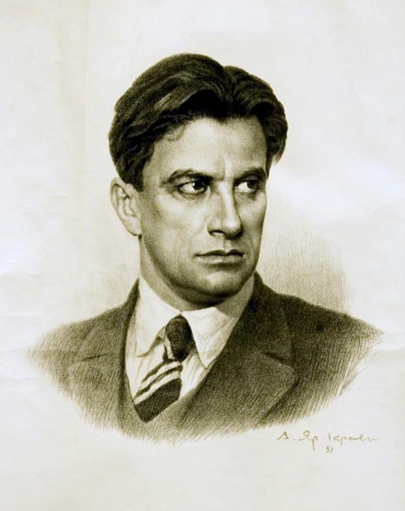 Портрет русского поэта Маяковского Владимира Владимировича
