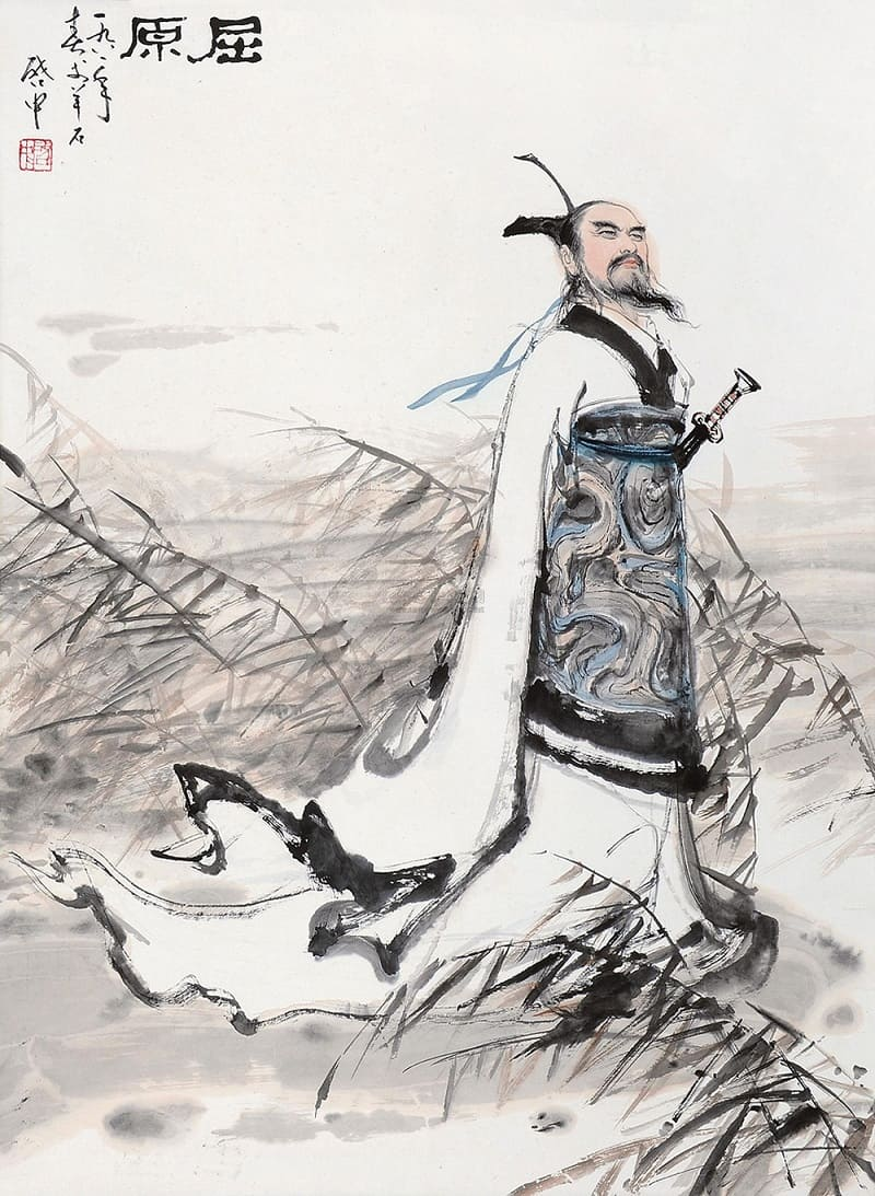 Министр и поэт Цюй Юань заходит в реку