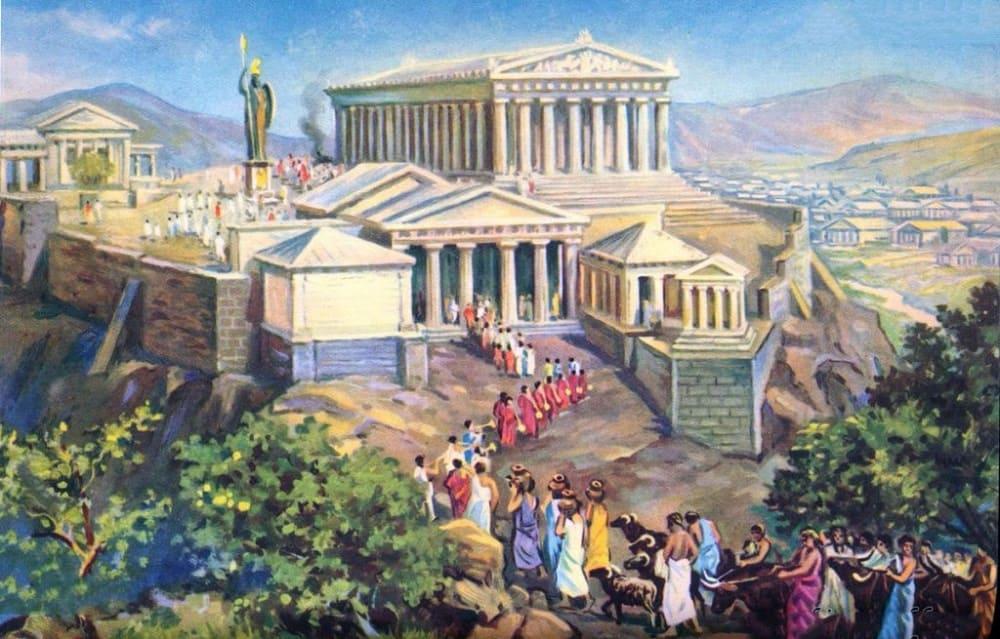 Панафинеи в Афинском акрополе в V веке до н. э.