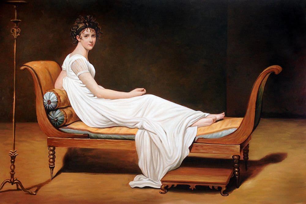 ЖакЛуиДавид «Портрет мадам Рекамье», 1800 год Местонахождение: Лувр, Париж, Франция
