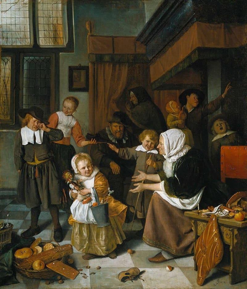 Ян Стен «Праздник Святого Николая», 1663 год Местонахождение: Рейксмюсеум, Амстердам, Нидерланды
