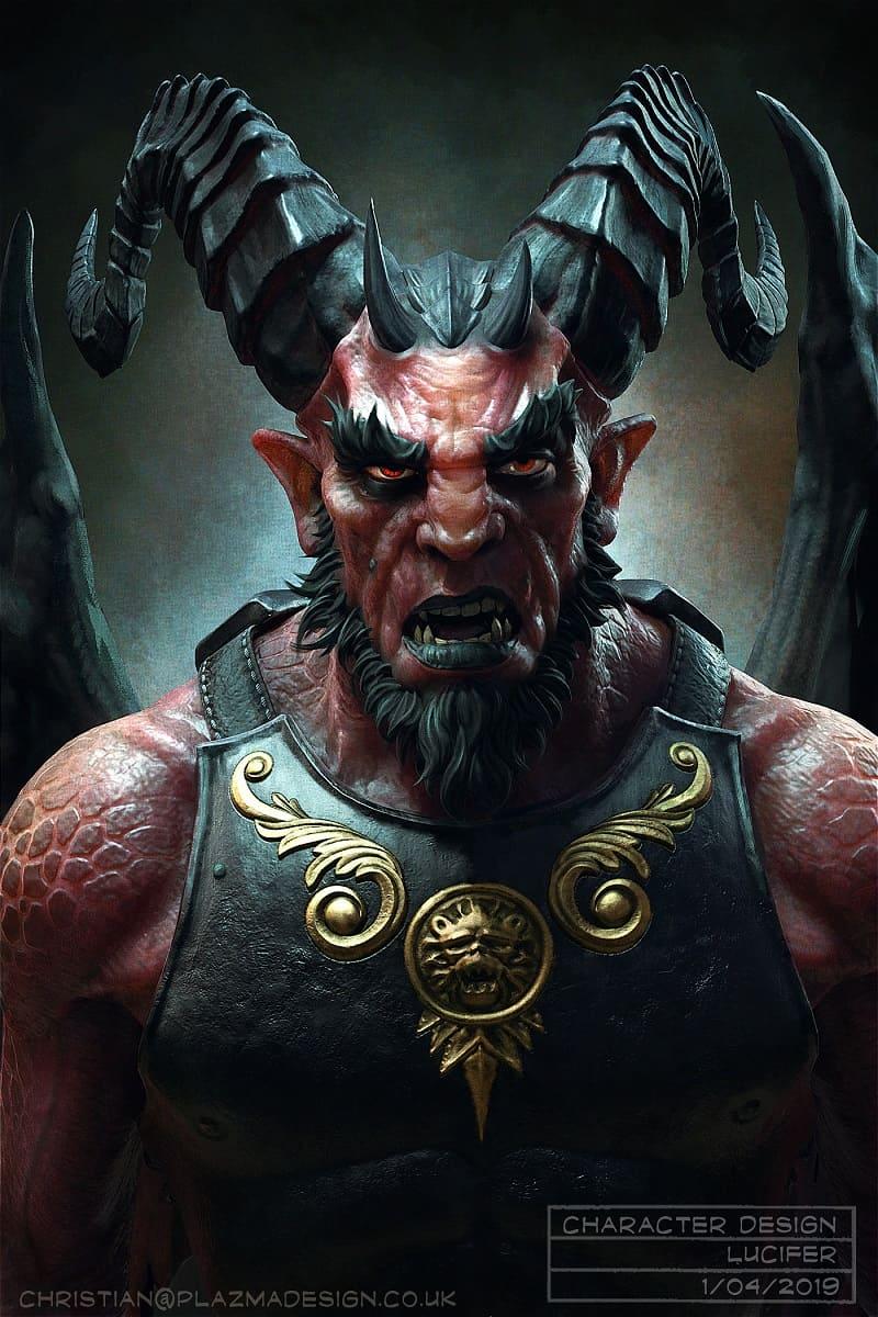 Люцифер превратился в Дьявола / © Christian Johnson / plazma.artstation.com