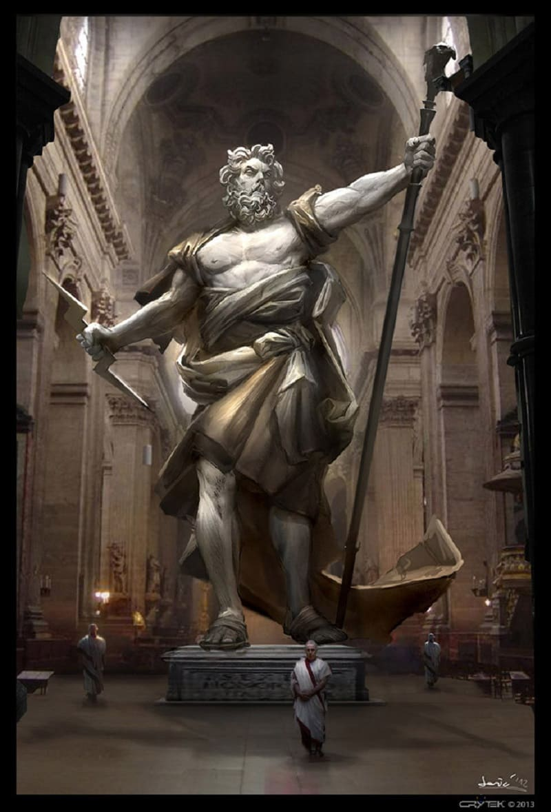 Статуя бога Юпитера в Риме / © Josic / josic.cgsociety.org