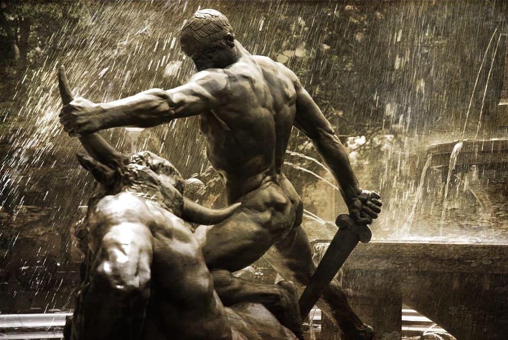 Адриан Гарденер «Тесей, Убивающий Минотавра»
