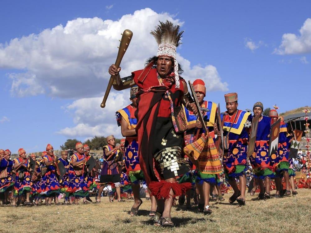 Воины инков на фестивале Инти Райми