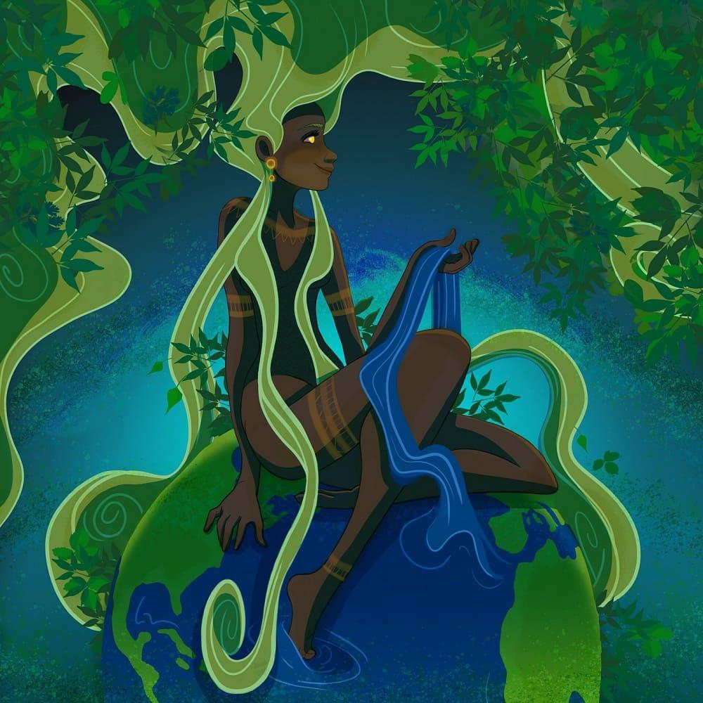 У богини нет точного образа, поэтому каждый представляет её по-своему / © Barby Sandin / barbysand.artstation.com