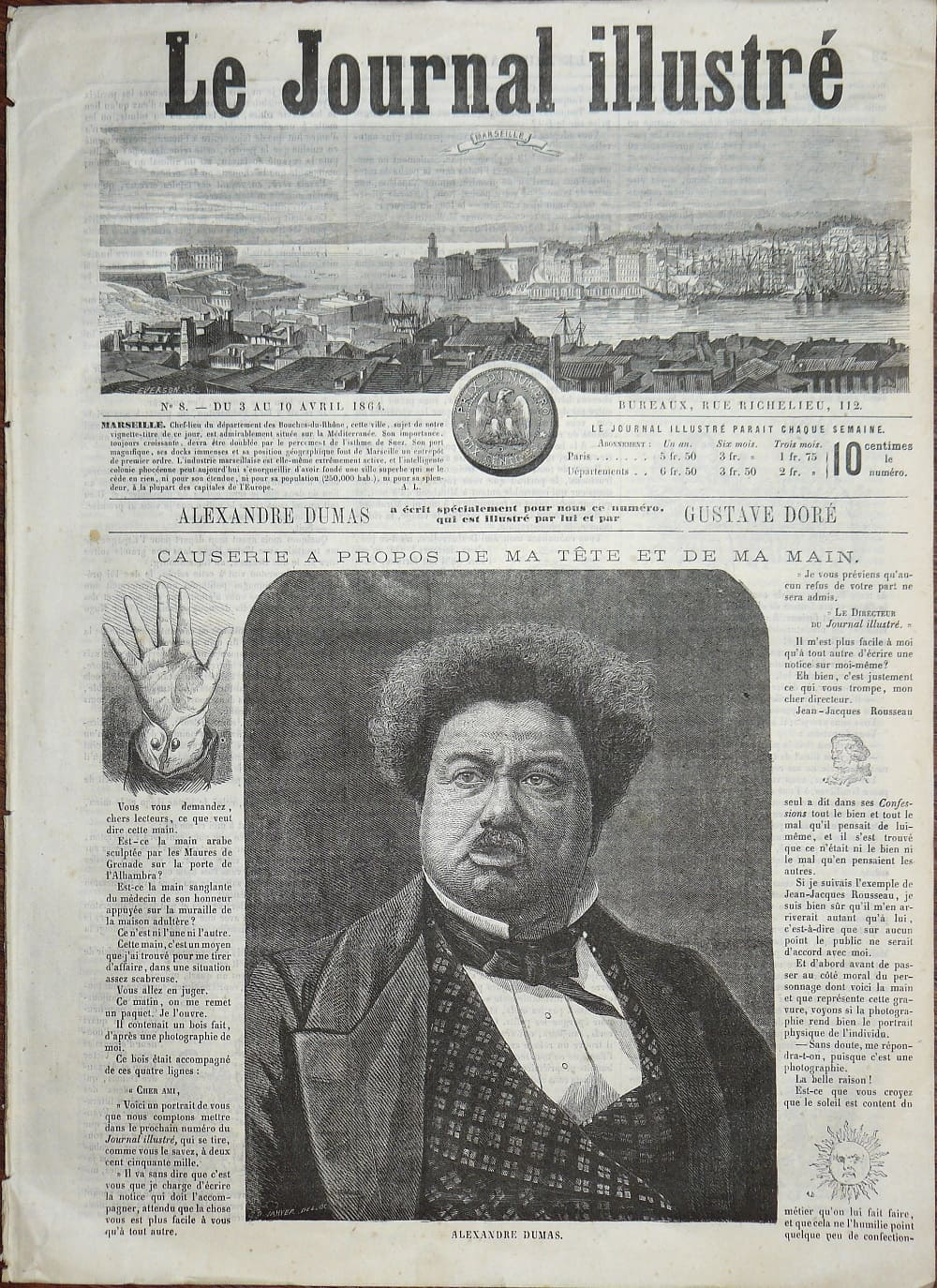 3 апреля 1864 года Статья Александра Дюма. Гравюры Гюстава Доре.
