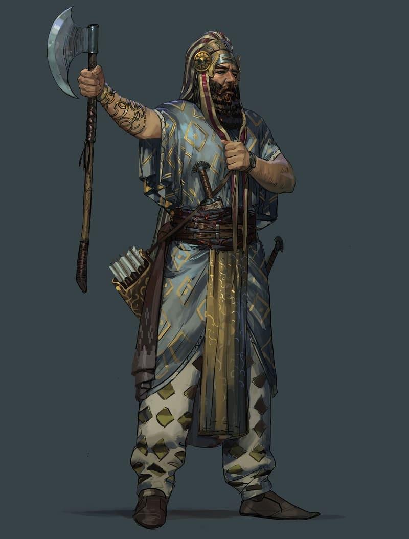 Ахеменидский воин / © Faraz Shanyar / farazshanyar.artstation.com