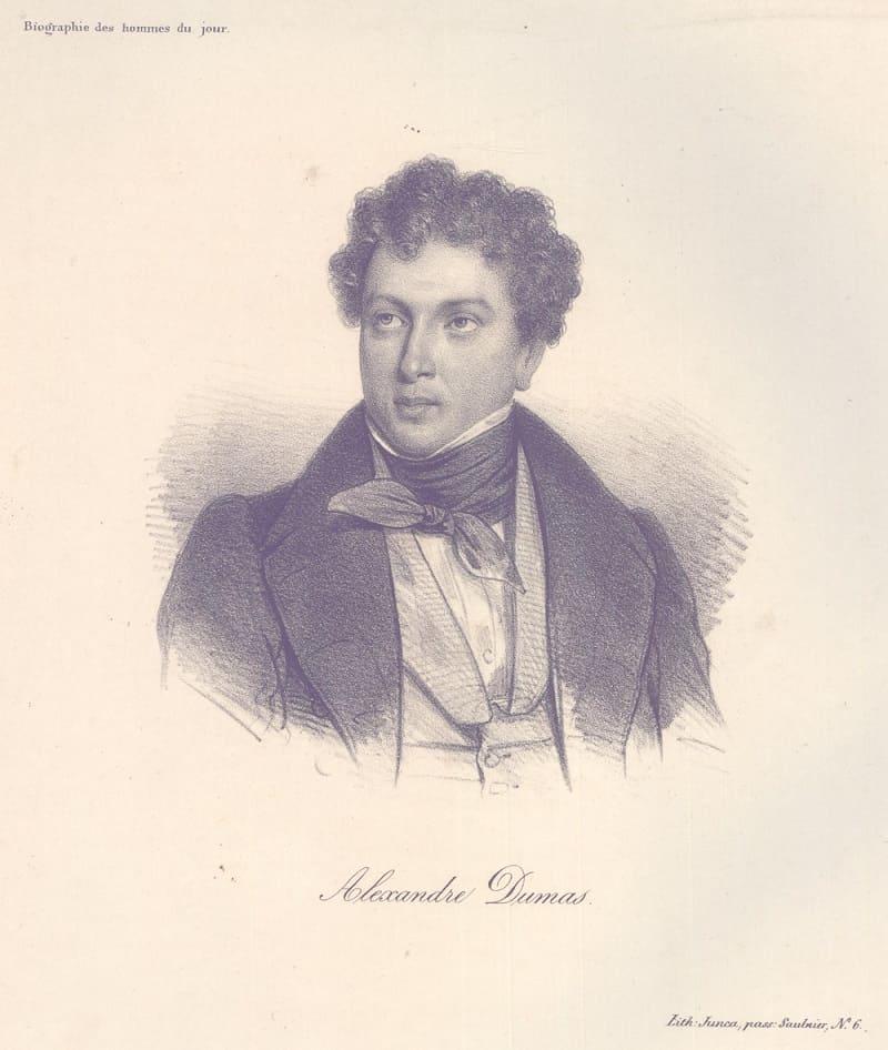Портрет Александра Дюма Местонахождение: Британский музей , Лондон, Великобритания