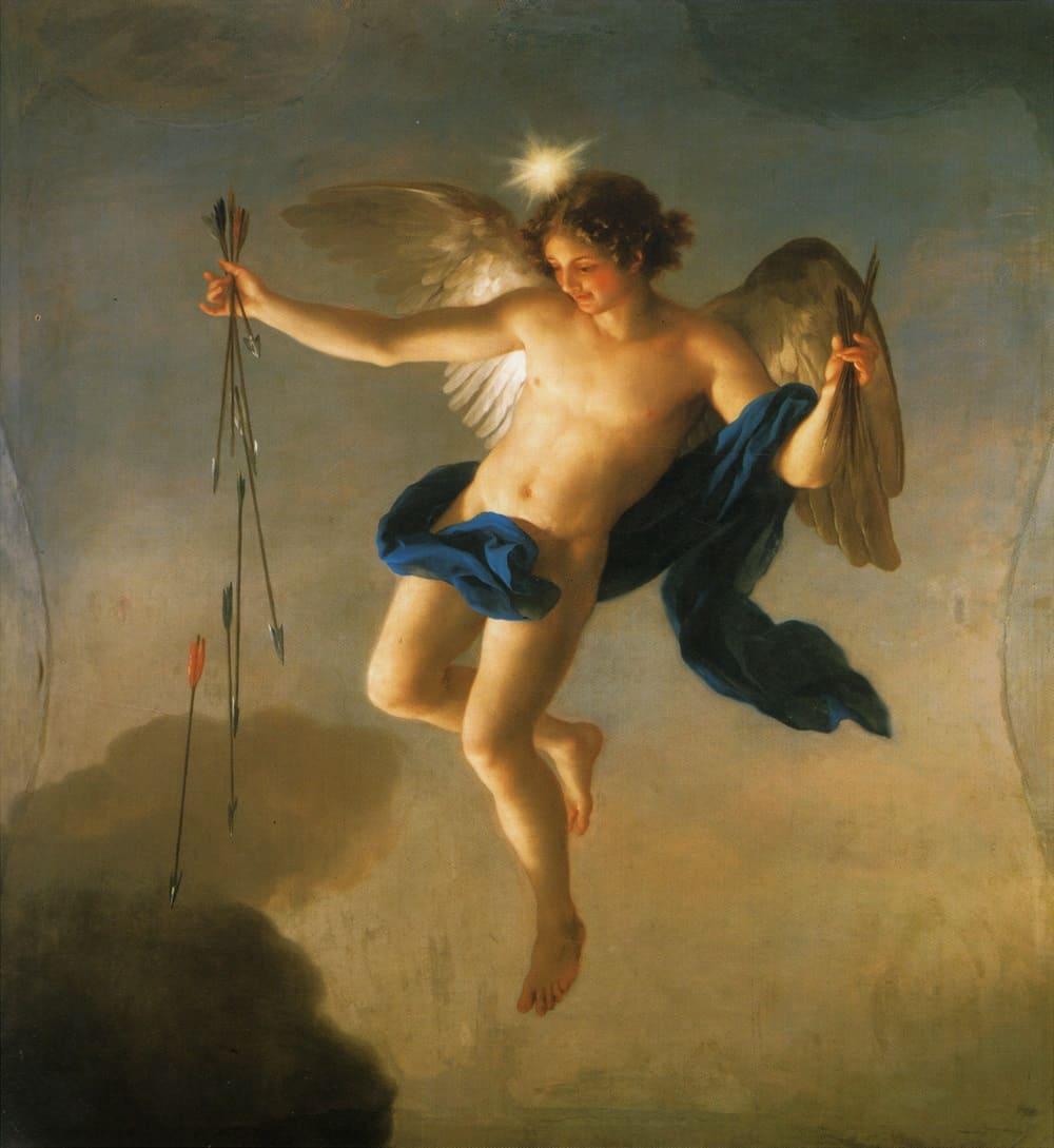Антон Рафаэль Менгс «Геспер как олицетворение Вечера» , 1765 год Местонахождение: Дворец Монклоа, Мадрид, Испания