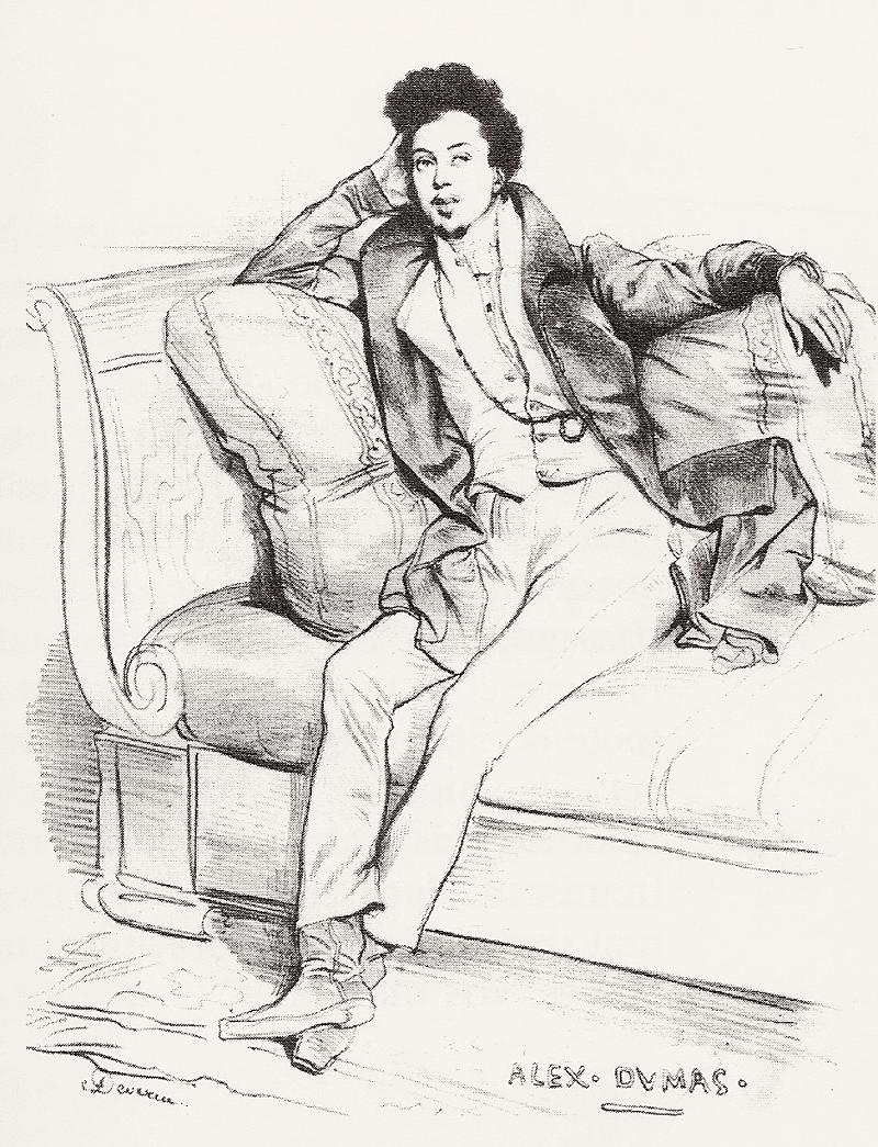 Ашиль Девериа «Александр Дюма в 1829 году»