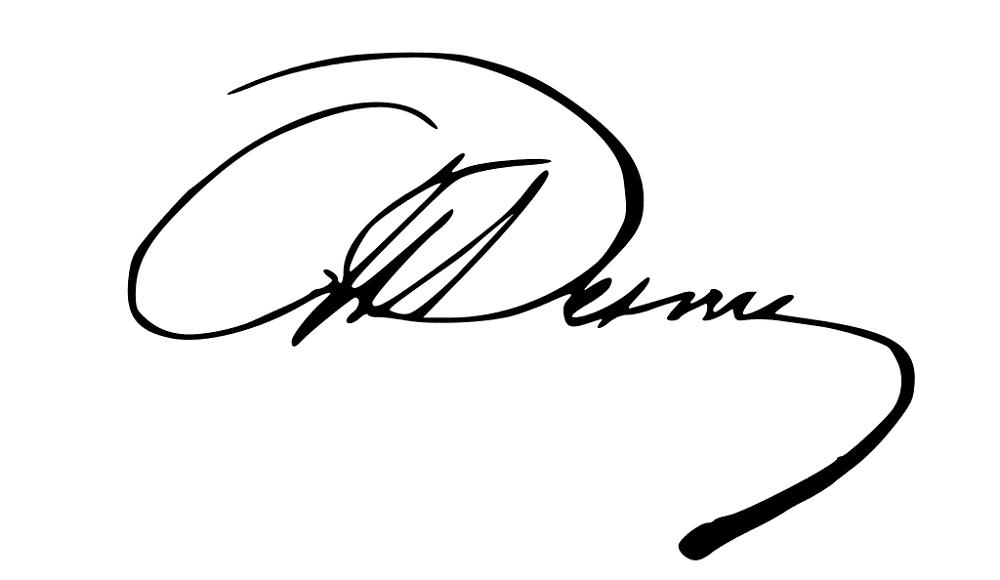 Автограф Александра Дюма