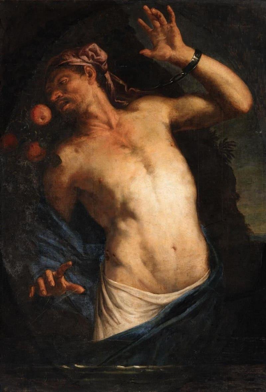 Джован Баттиста Лангетти «Танталус» XVII век. Местонахождение: Частная коллекция, Германия