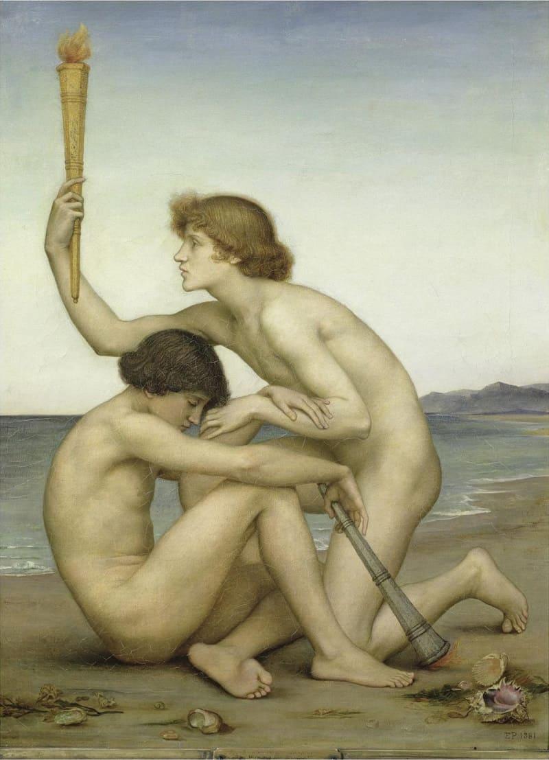Эвелин де Морган «Фосфор и Геспер«, 1881 год Местонахождение: De Morgan Centre, Лондон, Великобритания