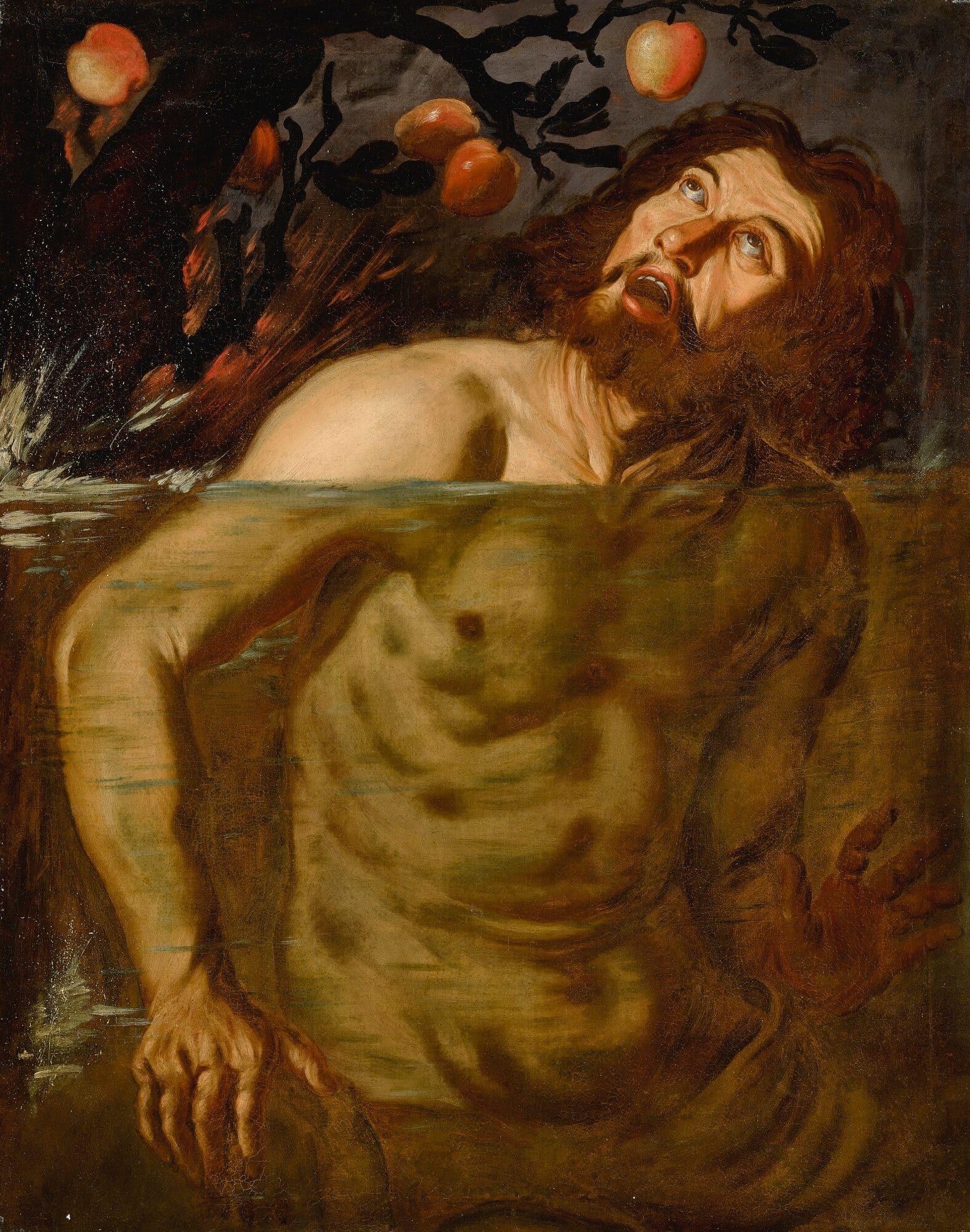 """Голландский последователь Караваджо, «Тантал», XVII век Местонахождение: Аукционный дом """"Sotheby's"""" Нью-Йорк США,"""