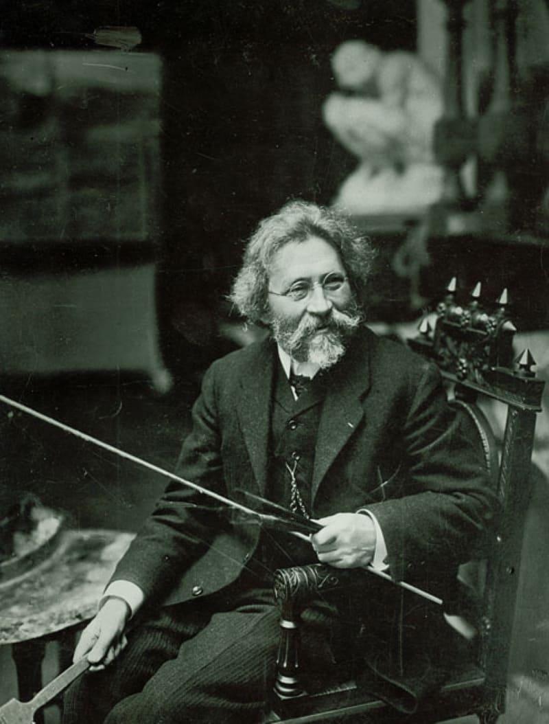 Илья Ефимович Репин, фотография 1909 года