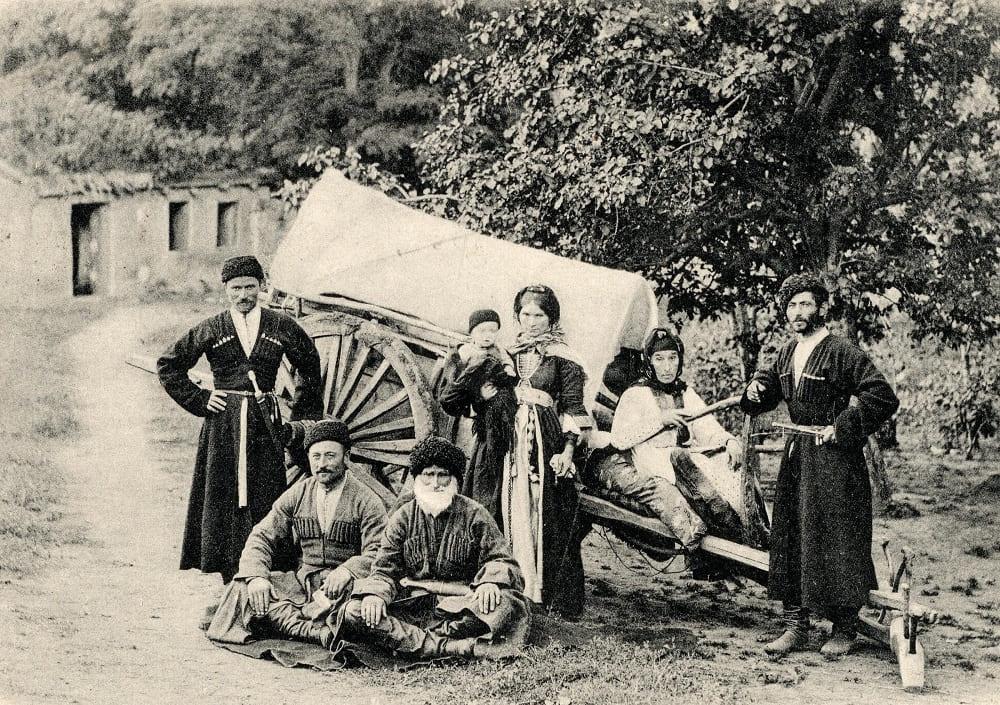 Кабардинская семья открытка 1905 года