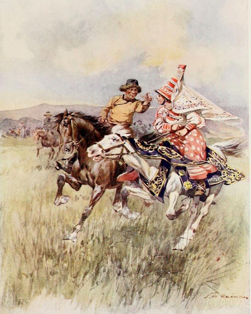 Фредерик де Хенен «Киргизское ухаживание», 1913 год