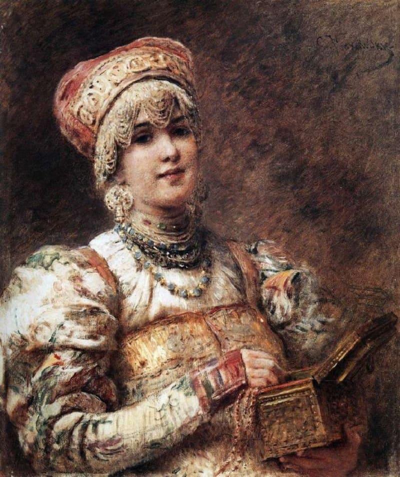 Константин Егорович Маковский «Боярышня», 1890 год