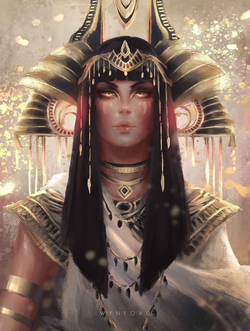 Мут - Богиня-Мать / © Gavin Wynford / gavinwynford.artstation.com