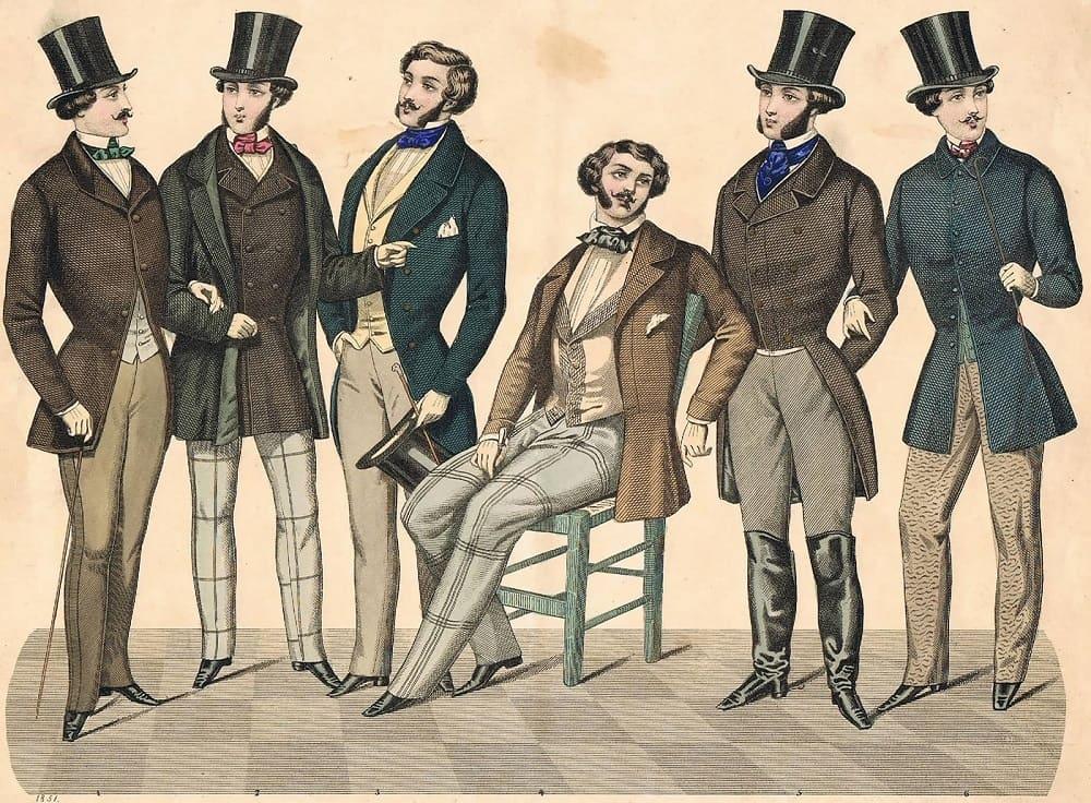 Мужская мода 1851 год / © Иоганн Адам Бергк