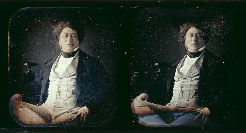 Портрет Александра Дюма по Гуину, 1852 год