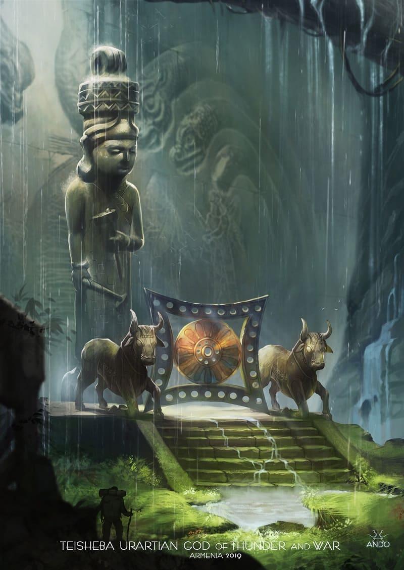 Тешшуб - урартский бог грома и войны / © Shedu ComicS / sheducomics.artstation.com
