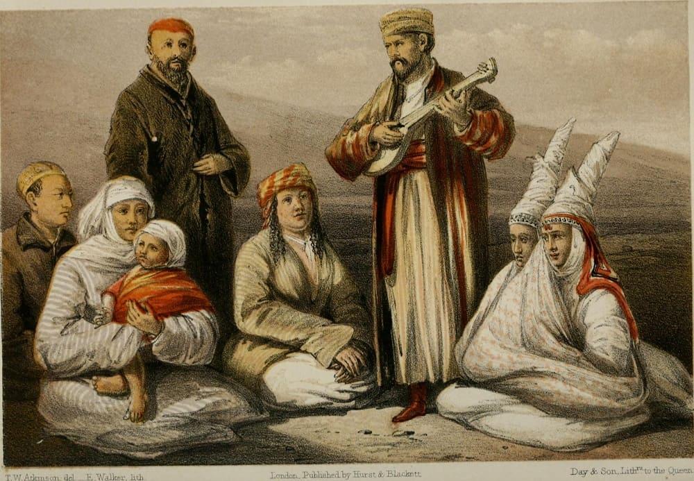 Томас Уитлам Аткинсон «Группа киргизов»,1858 год
