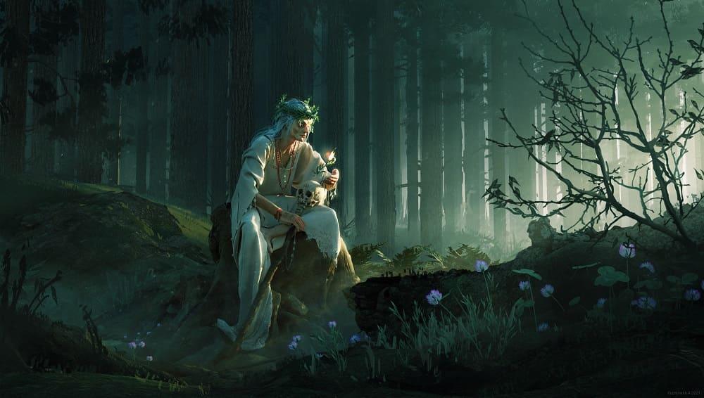 Яга - хозяйка леса / © Alena KuzminykhPRO / alicetwon.artstation.com