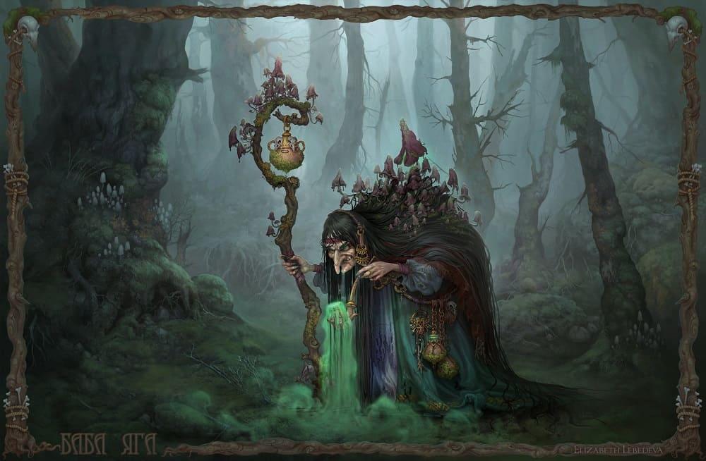 Яга - лесная ведьма / © SMIRNOV SCHOOL / smirnovschool.artstation.com