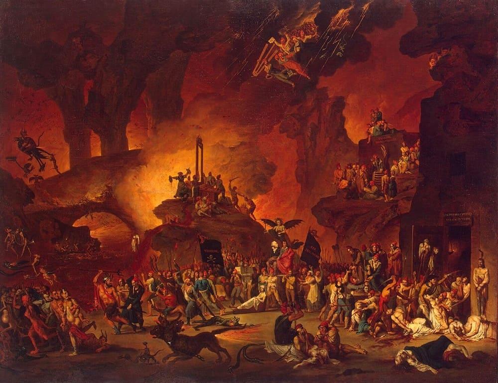 Николя Антуан Тоне «Триумф гильотины в аду», 1795 год Местонахождение: Музеи Парижа, Париж, Франция