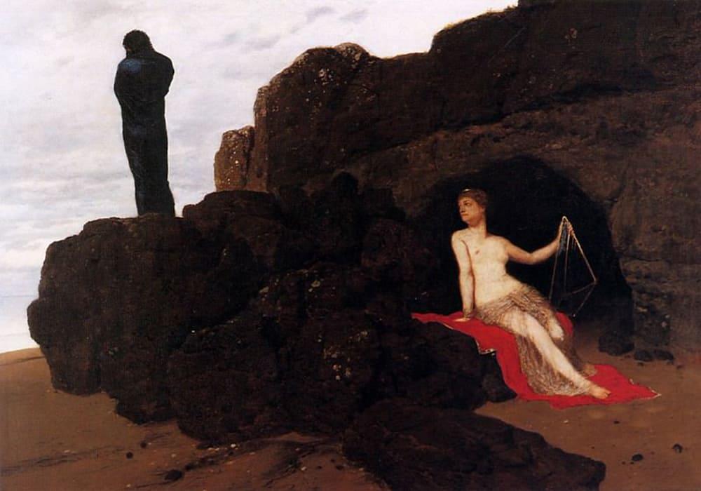 Арнольд Бёклин «Одиссей и Калипсо», 1882 год Местонахождение: Базельский художественный музей, Базель, Швейцария