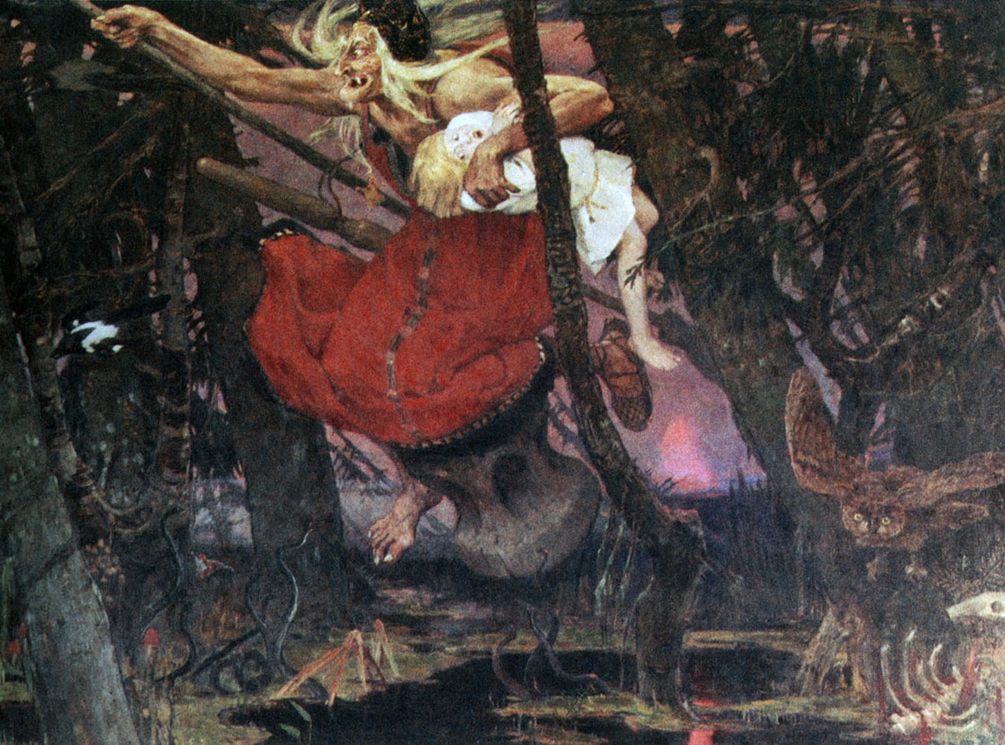 Виктор Васнецов «Баба-Яга», 1917 Местонахождение: Дом-музей В. М. Васнецова, Москва, Россия