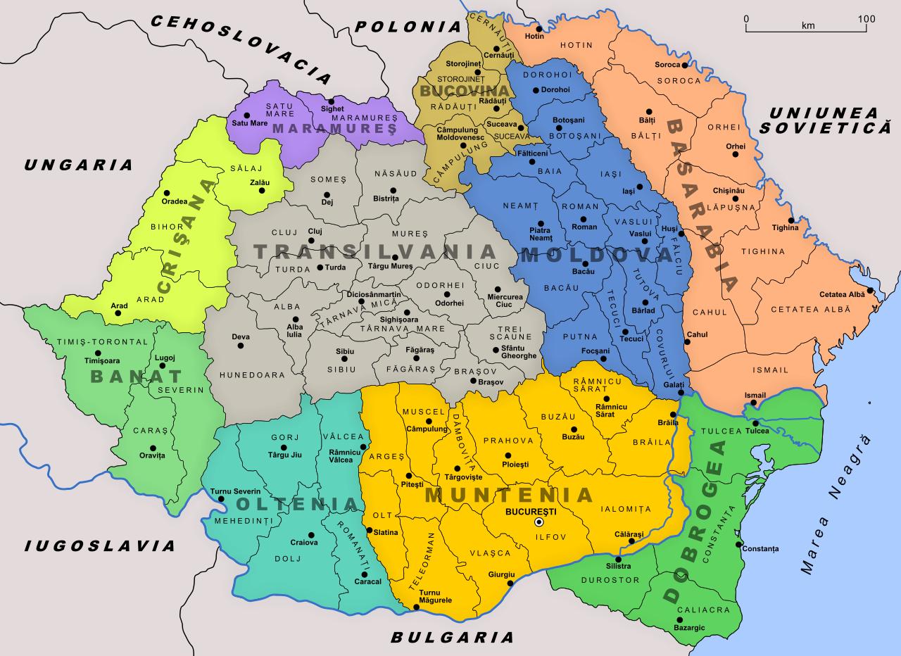 Бессарабия в составе Румынии (1918—1940)/ wikipedia.org